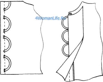 Как сделать петлю для пуговицы в шифоне