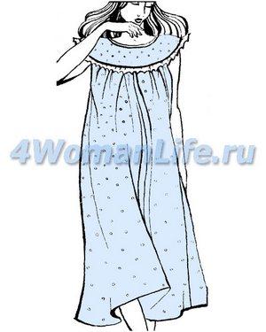 Женское вечернее платье на круглой кокетке сшить