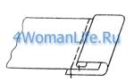 Окантовочный шов с открытым срезом