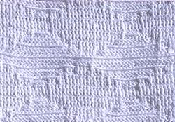 Рельефный узор крючком 6