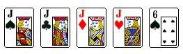 Каре (четыре одинаковых)