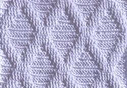 Рельефный узор крючком 5